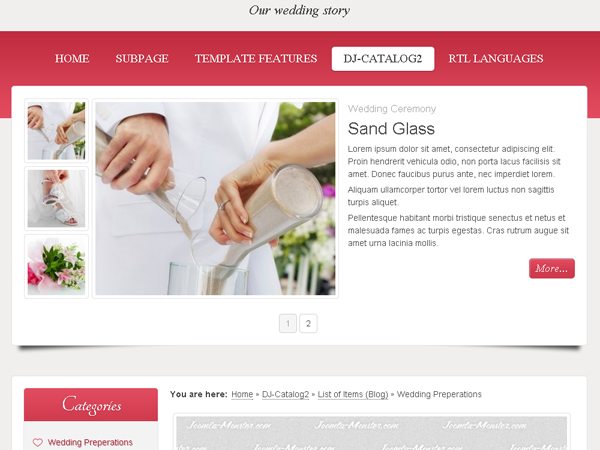 Website Wedding Studio
